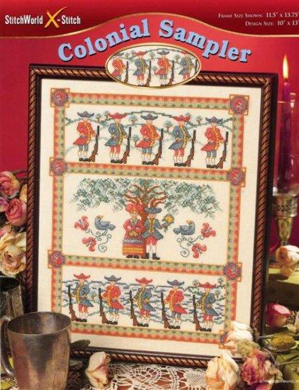 StitchWorld X-Stitch Colonial Sampler Cross Stitch Pattern Leaflet New