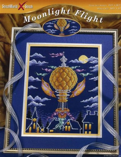 StitchWorld X-Stitch Moonlight Flight Cross Stitch Pattern Leaflet New