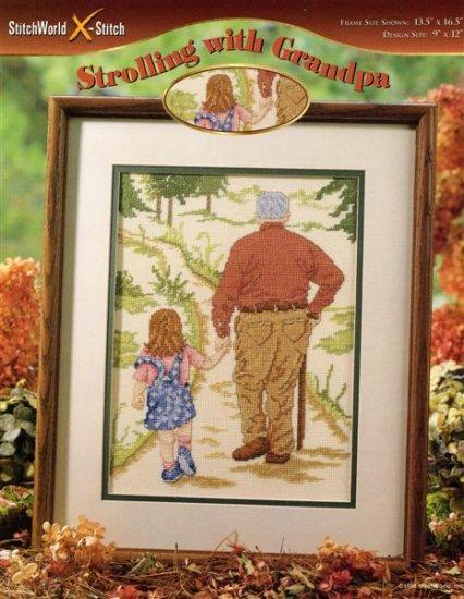 StitchWorld X-Stitch Strolling with Grandpa Cross Stitch Pattern Leaflet New