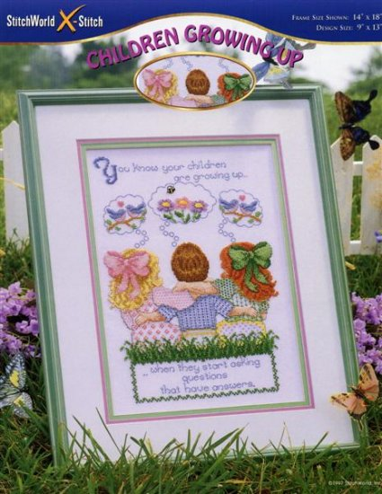 StitchWorld X-Stitch CHILDREN GROWING UP Cross Stitch Pattern Leaflet New
