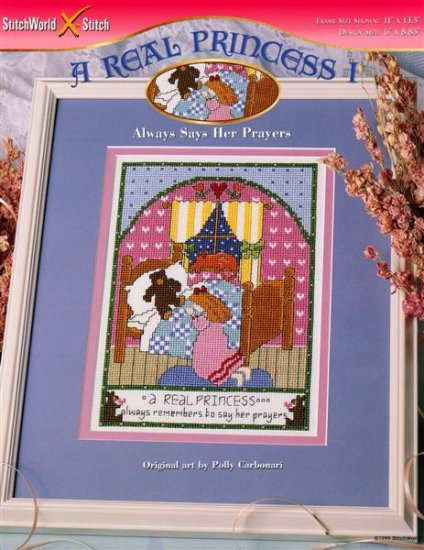StitchWorld X-Stitch A REAL PRINCESS I Cross Stitch Pattern Leaflet New