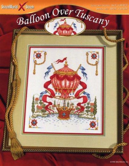 StitchWorld X-Stitch Balloon Over Tuscany Cross Stitch Pattern Leaflet New