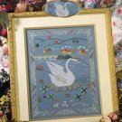 StitchWorld X-Stitch Medievil Swan Tapestry Cross Stitch Pattern Leaflet New