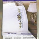 Bucilla Cross Stitch Kit  Butterfly Lace Pillowcases New