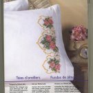 Bucilla Pillowcases Cross Stitch Kit Indian Rose New