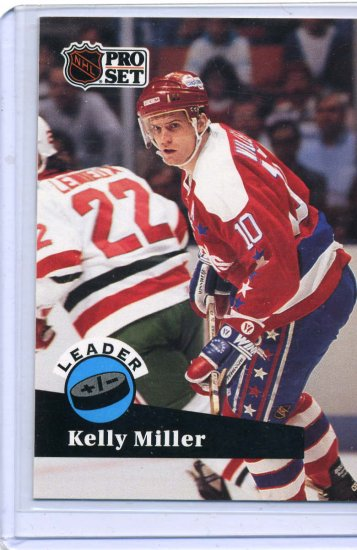 Kelly Miller Leader 91/92 Pro Set #611 NHL Hockey Card