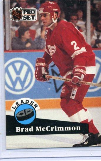 Brad McCrimmon Leader 91/92 Pro Set #609 NHL Hockey Card