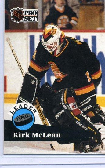 Kirk Mclean Leader 91/92 Pro Set #603 NHL Hockey Card