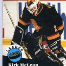 Kirk Mclean Leader 91/92 Pro Set #603 NHL Hockey Card