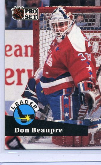 Don Beaupre Leader  91/92 Pro Set #601 NHL Hockey Card