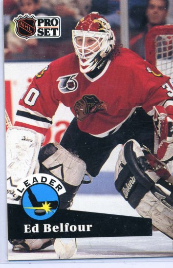Ed Belfour Leader 91/92 Pro Set #600 NHL Hockey Card