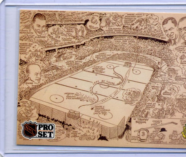 Boston Bruins Cartoon Hall of Fame 91/92 Pro Set #591 NHL Hockey Card