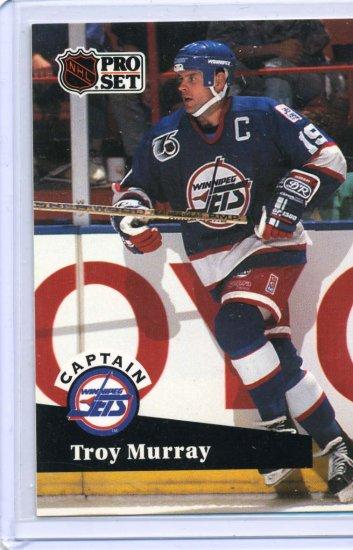 Troy Murray 91/92 Pro Set #588 NHL Hockey Card