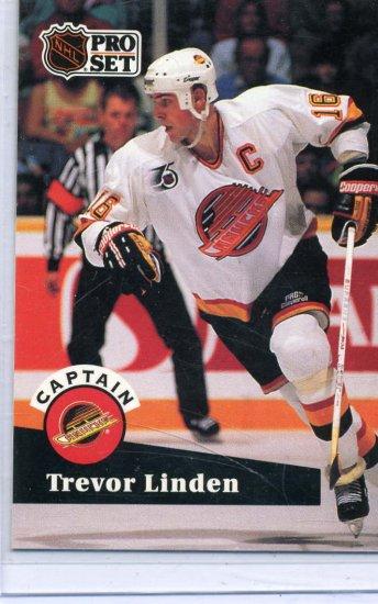 Trevor Linden 91/92 Pro Set #586 NHL Hockey Card Near Mint/Mint Condition