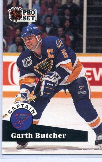 Garth Butcher 1991/92 Pro Set #583 NHL Sports Trading Card Near Mint/Mint Condition