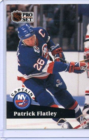 Patrick Flatley 91/92 Pro Set #578 NHL Hockey Card Near Mint/Mint Condition