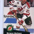 Bruce Driver 91/92 Pro Set #577 NHL Hockey Card Near Mint/Mint Condition