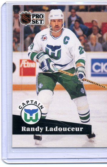 Randy Ladouceur 91/92 Pro Set #573 NHL Hockey Card Near Mint/Mint Condition