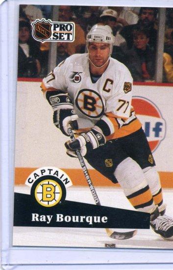Ray Bourque NHL Hockey 1991/92 Pro Set #567 Card Near Mint/Mint