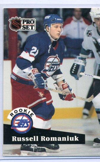 Rookie Russell Romaniuk 1991/92 Pro Set # 565 NHL Hockey Trading Card Near Mint/Mint