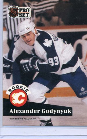 Rookie Alexander Godynyuk 1991/92 Pro Set #563 Hockey Card Near Mint/Mint