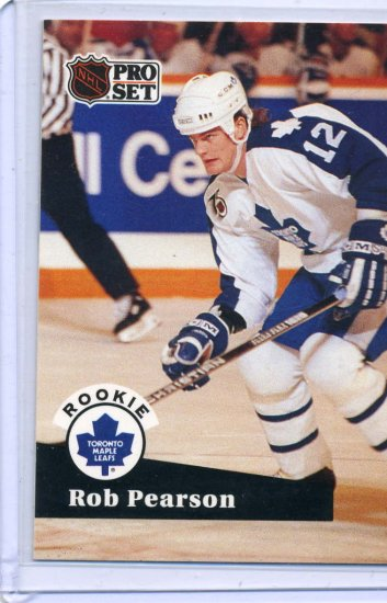 Rookie Rob Pearson 1991/92 Pro Set #562 NHL Hockey Card Near Mint/Mint