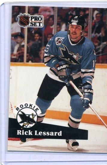 Rookie Rick Lessard 1991/92 Pro Set #560 NHL Hockey Card Near Mint/Mint