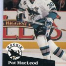 Rookie Pat MacLoed 1991/92 Pro Set #559 NHL Hockey Card Near Mint/Mint