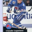 Rookie Claude Lapointe 1991/92 Pro Set #556 Hockey Card Near Mint Condition
