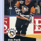 Rookie Jim Paek 1991/92 Pro Set #554 NHL Hockey Card Near Mint Condition