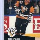 Rookie Jim Paek 1991/92 Pro Set #554 NHL Hockey Card Near Mint Condition