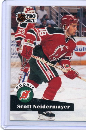 Scott Niedermayer Rookie Year 1991/92 Pro Set #547 NHL Hockey Card Near Mint Condition