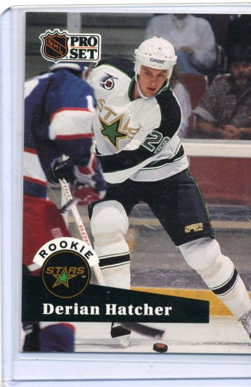 Rookie Derian Hatcher 1991/92 Pro Set #543 NHL Hockey Card Near Mint Condition