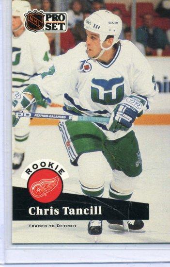 Rookie Chris Tancill 1991/92 Pro Set #539 NHL Hockey Card Near Mint Condition