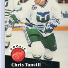 Rookie Chris Tancill 1991/92 Pro Set #539 NHL Hockey Card Near Mint Condition