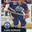 Rookie Louie DeBrusk 1991/92 Pro Set #535 NHL Hockey Card Near Mint Condition