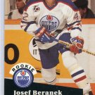 Rookie Josef Beranek 1991/92 Pro Set #534 NHL Hockey Card Near Mint Condition