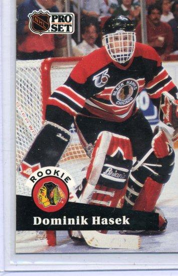 Rookie Dominik Hasek 1991/92 Pro Set #529 NHL Hockey Card Near Mint Condition