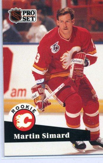 Rookie Martin Simard 1991/92 Pro Set #526 NHL Hockey Card Near Mint Condition