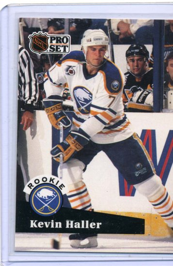 Rookie Kevin Haller 1991/92 Pro Set #525 Hockey Card Near Mint Condition