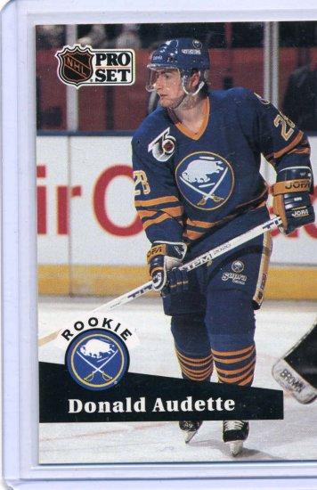 Rookie Donald Audette 1991/92 Pro Set #524 NHL Hockey Card Near Mint Condition