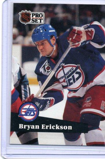 Bryan Erickson 1991/92 Pro Set #516 NHL Hockey Card Near Mint Condition