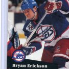 Bryan Erickson 1991/92 Pro Set #516 NHL Hockey Card Near Mint Condition