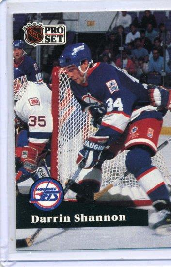 Darrin Shannon 91/92 Pro Set #515 NHL Hockey Card Near Mint Condition