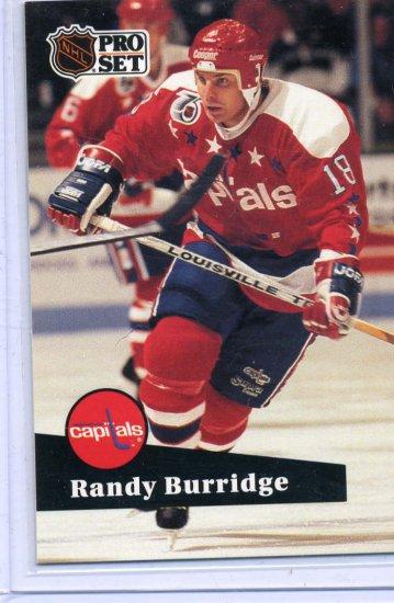 Randy Burridge 91/92 Pro Set #510 NHL Hockey Card Near Mint Condition