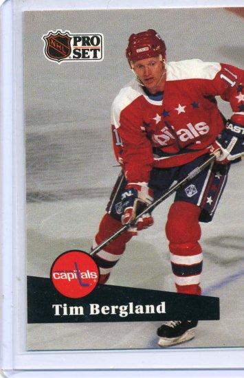 Tim Bergland 91/92 Pro Set #507 NHL Hockey Card Near Mint Condition