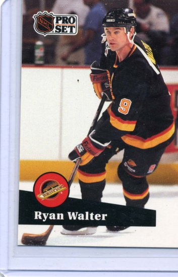 Ryan Walter 91/92 Pro Set #504 NHL Hockey Card Near Mint Condition