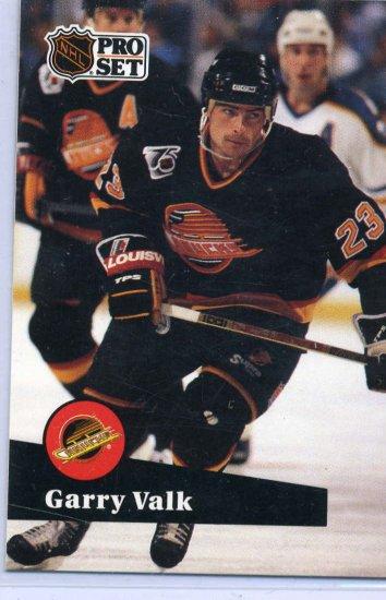 Garry Valk 91/92 Pro Set #499 NHL Hockey Card Near Mint Condition