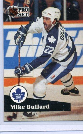 Mike Bullard 91/92 Pro Set #496 NHL Hockey Card Near Mint Condition