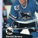 Rookie David Bruce 1991/92 Pro Set #485 Hockey Card Near Mint Condition